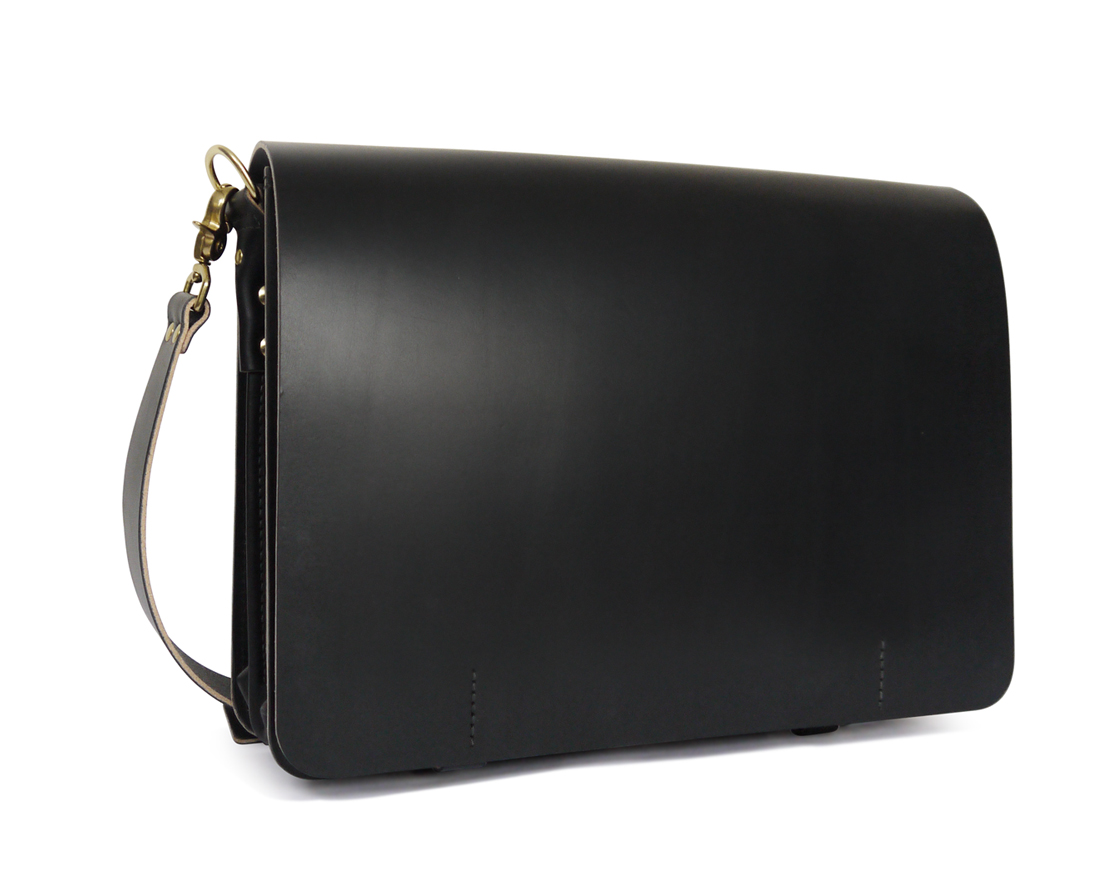 Minimal Leather Messenger Laptop Bag, Men's / Women's