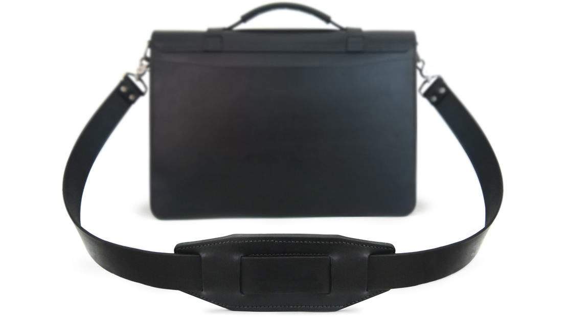 Black Leather Bag in full grain leather