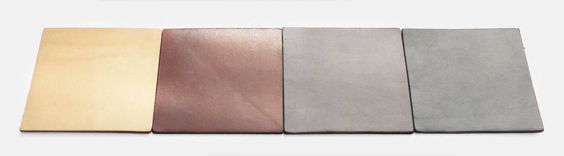 Full-grain leather color options