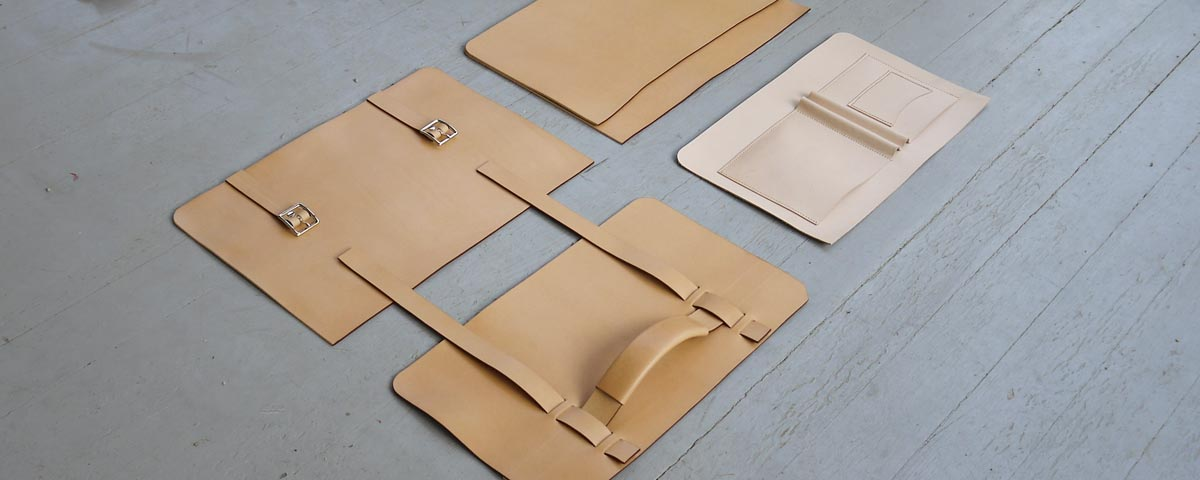 Making a mens leather bag