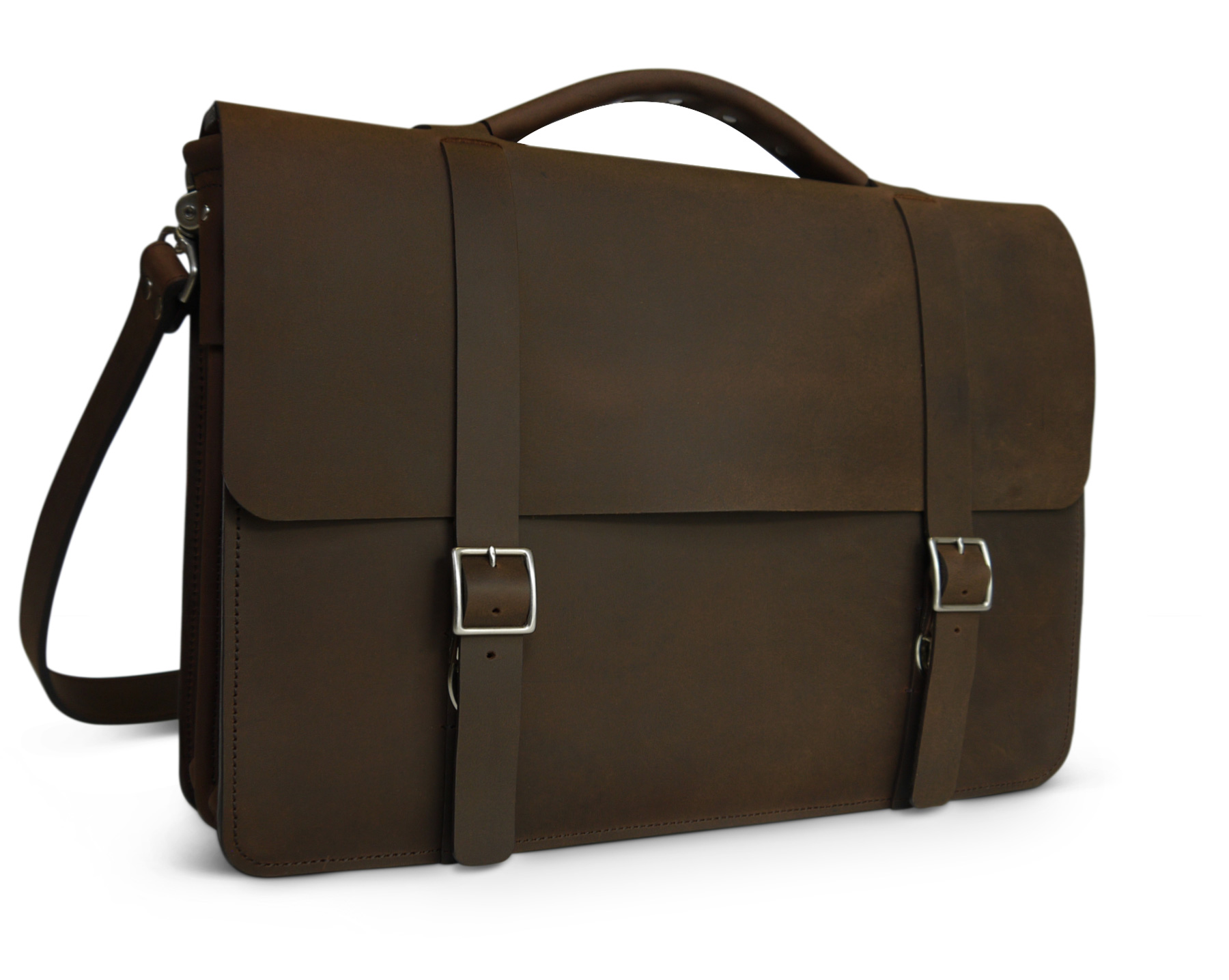 af233470dd99 Ready to Ship Classic Messenger bag – Dark Brown Pull-up Leather