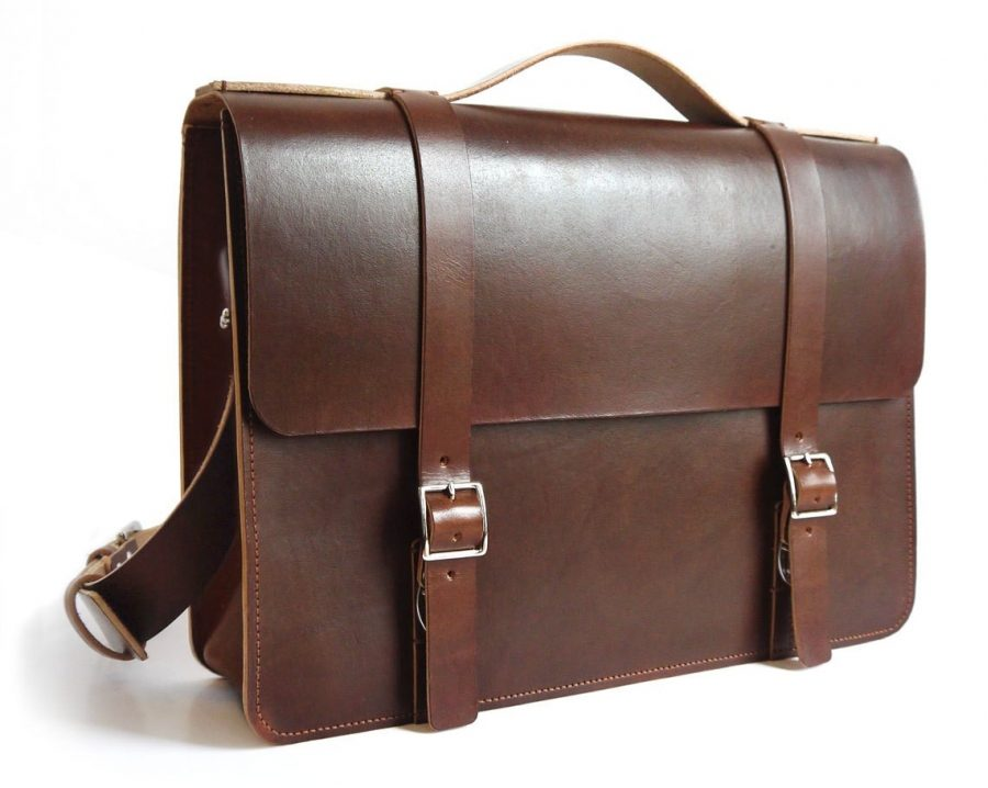 Large Leather Messenger Bag | Simple Elegant Mens Bag