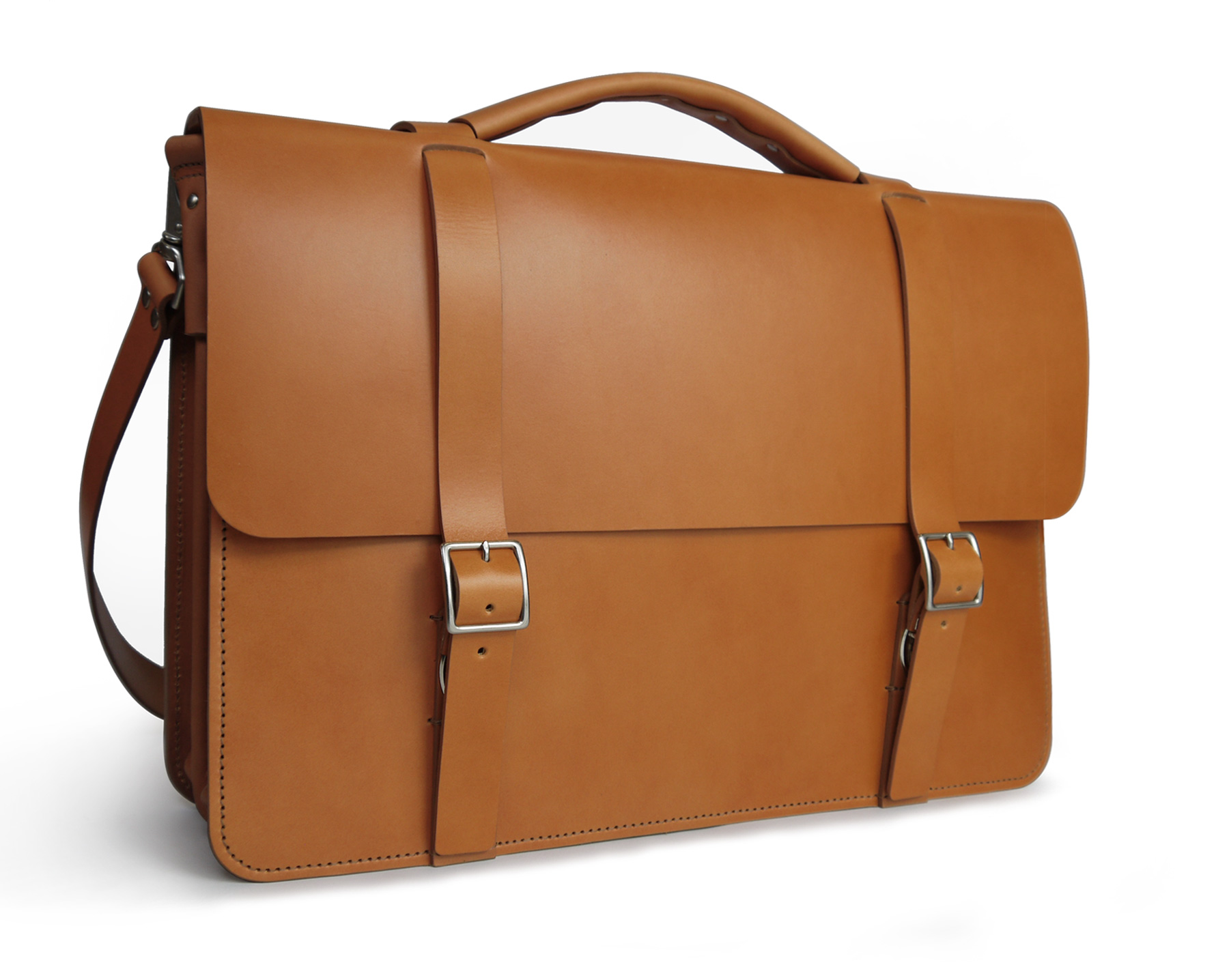 Handmade Classic Messenger Bag with divided Gusset – English Tan cc8034fb6785a