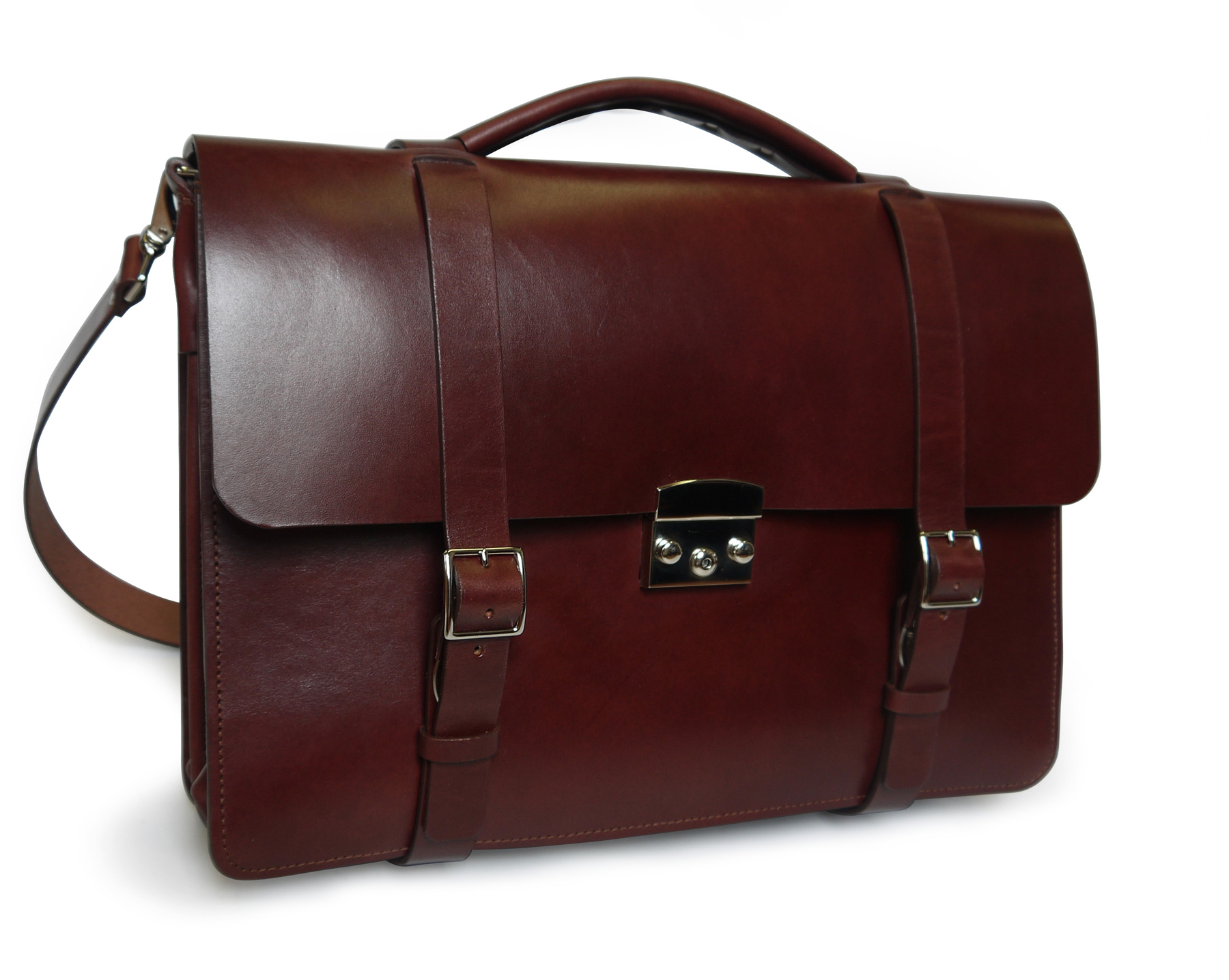 Limited Edition – Oxblood Classic Briefcase with keylock closure ae7823f68450c
